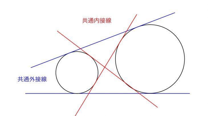 共通接線の問題5パターンの解き方を例題付きで解説!