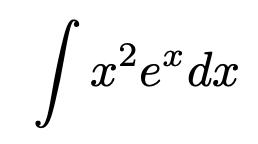\[\int x^2e^x dx\]